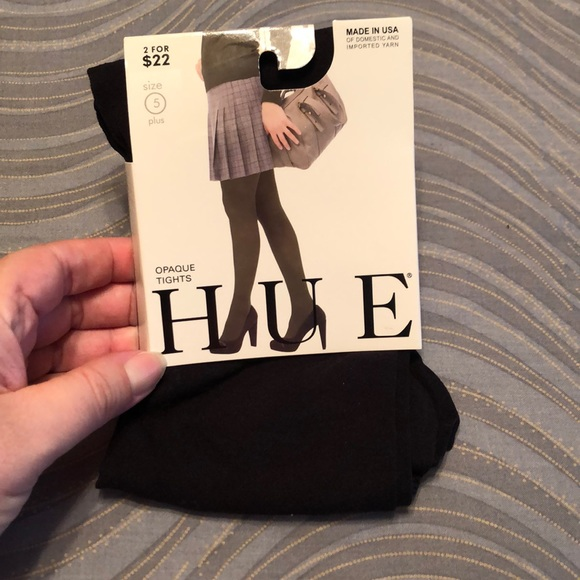 HUE Accessories - 🎈NWT. Hue opaque tights. Black. Size 5 plus